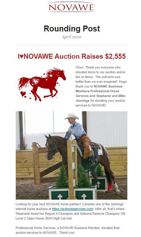 NOVAWE - April 2020 Rounding Post