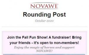NOVAWE Rounding Post Newsletter October 2020